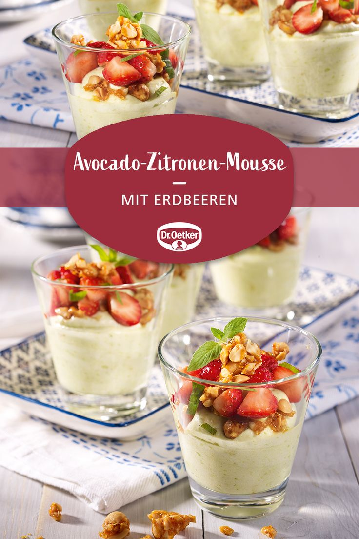 Ein erfrischendes Dessert mit  Mousse au Citron