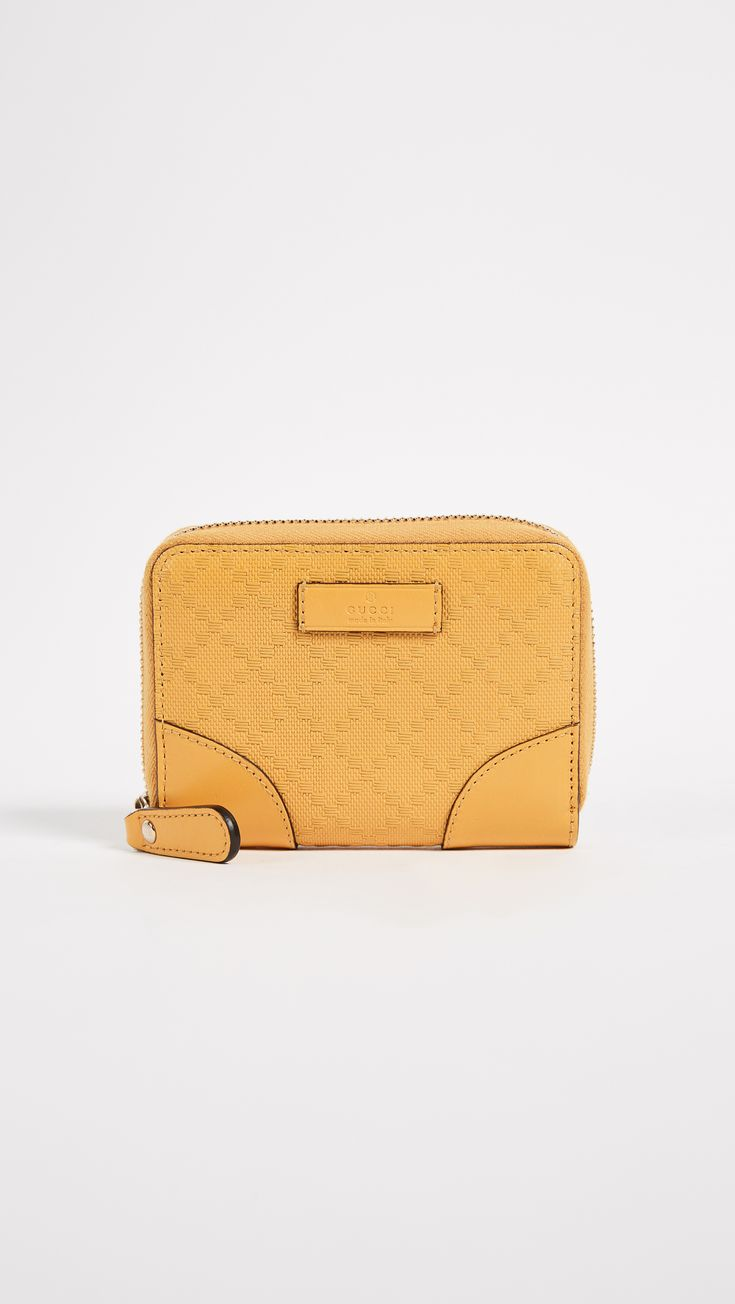 What Goes Around Comes Around Gucci Yellow Diamante Zip Wallet (Previously Owned)   SHOPBOP