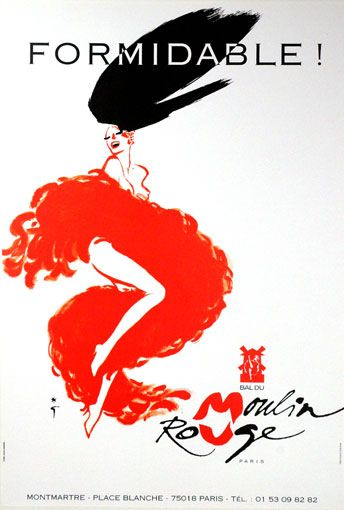 Rene Gruau art | moulin rouge # vintage # poster # formidable