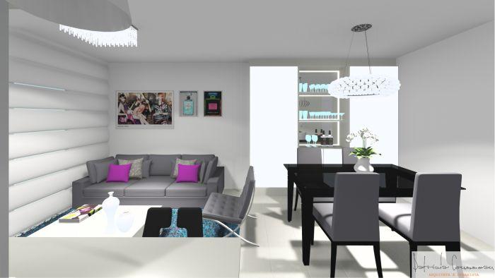 Os moradores deste apartamento tinham dificuldade em encontrar móveis avulsos para os ambientes. Por isso, os móveis e estofados foram planejados de acordo com o espaço, necessidade e gosto dos clientes.