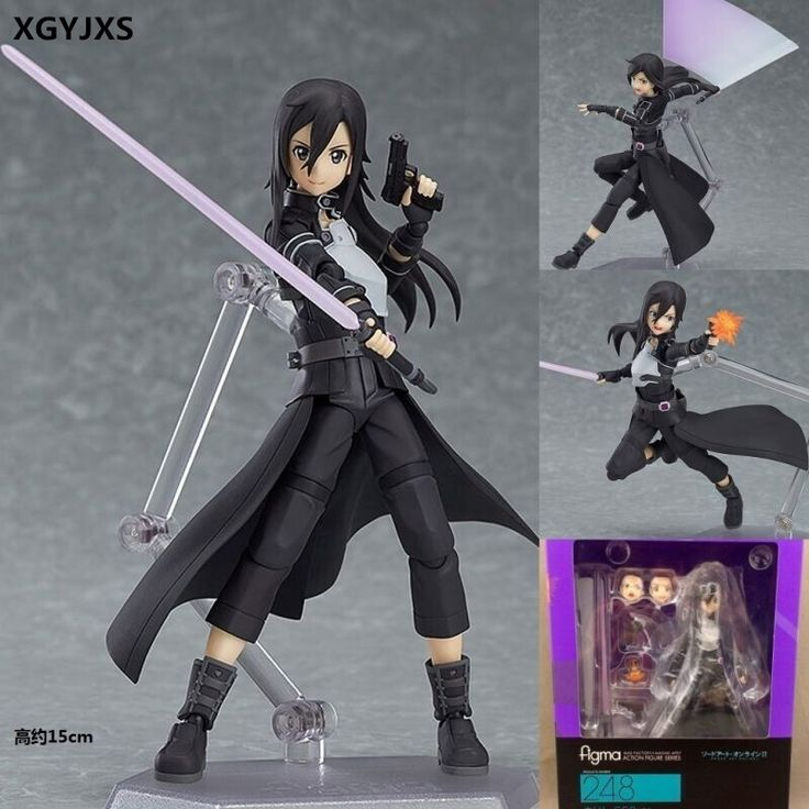 17.07$  Watch now - http://ali0m3.shopchina.info/1/go.php?t=32804765294 - New Hot Selling Cartoon Character Toys Figma 248 Tong Ren Sword art Online ALO kirito Kirigaya Kazuto 15CM Children's Gift X166  #magazineonlinewebsite