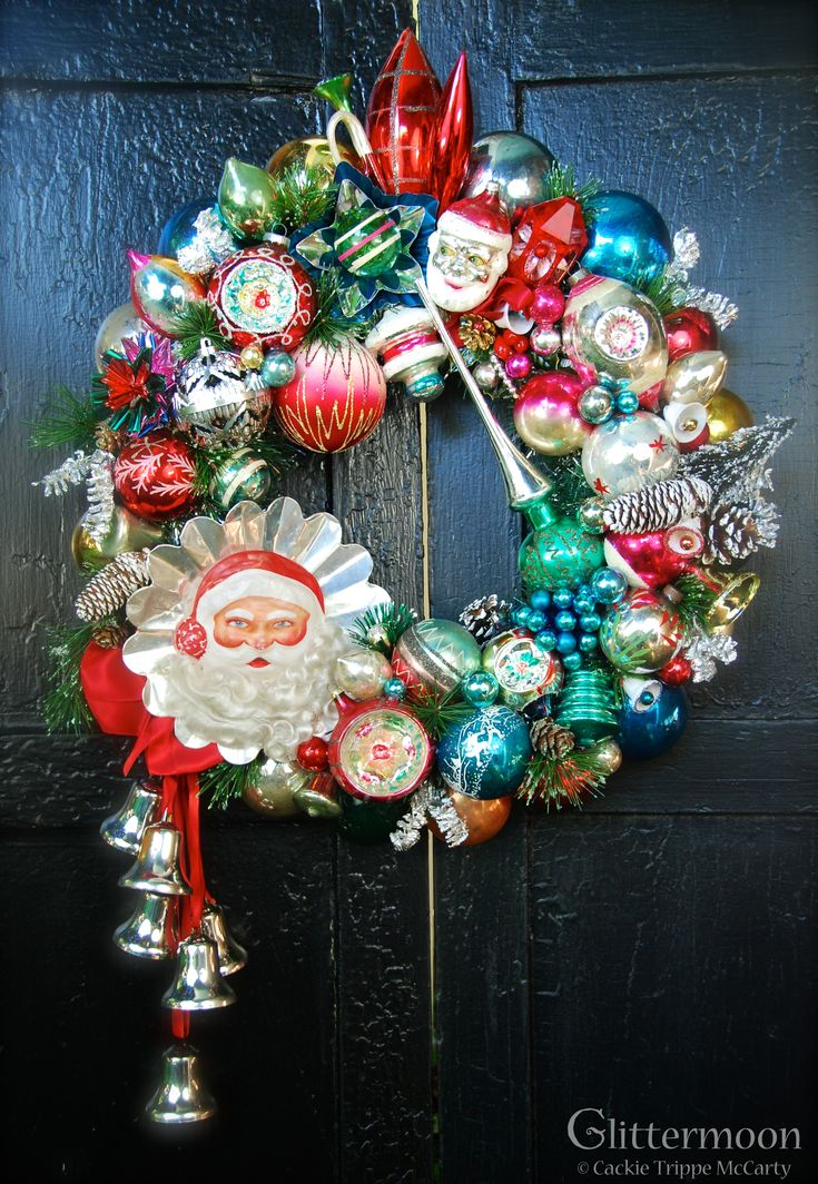 Christmas in the Woods Wreath ©Glttermoon Vintage Christmas 2013