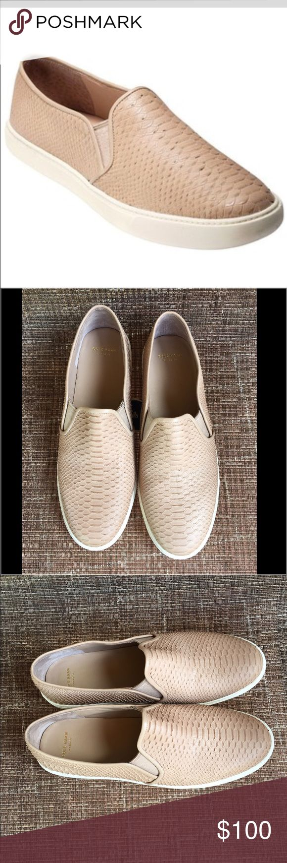 WKD SALE! Cole Haan Nude Slip On Sneaker Cole Haan Nude Slip On Sneaker.  Brand new without tags.  Never worn.  Perfect color to match so many outfits for a comfortable and chic feel! Cole Haan Shoes Moccasins
