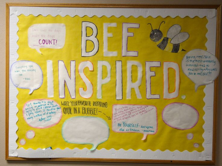 March Bulletin Board - Inspiring Quotes