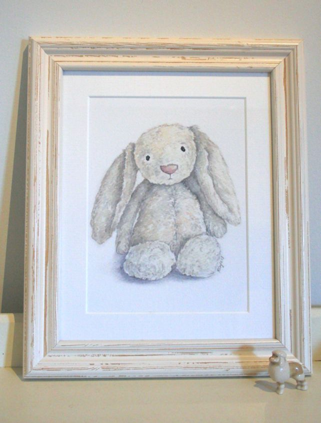 JellyCat Bunny - Print from original watercolour (un- mounted) £15.00