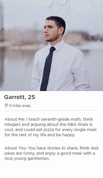 example of male online dating profile