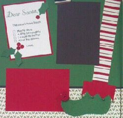 Suz's Stampin Spot: December Club Scrapbook pages