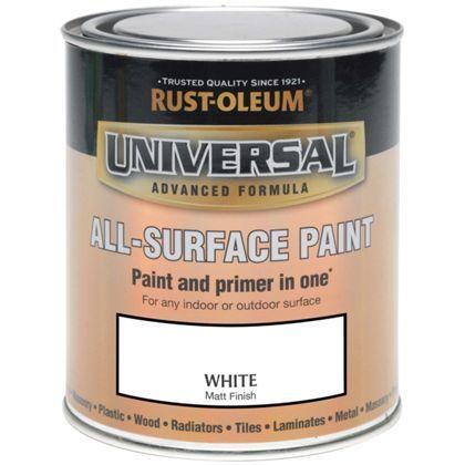 Rust-Oleum White - Matt Paint - 250ml