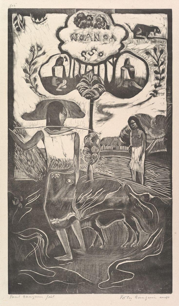 Eugène Henri Paul Gauguin (1848-1903) Noa Noa, 1893–94 Woodcut on China paper Dimensions:14 x 8 1/16 in. (35.6 x 20.5 cm): block 16 7/8 x 10 1/4 in. (42.9 x 26 cm): paper. Rogers Fund, 1921 The Metropolitan Museum of Art, New York, 21.38.10
