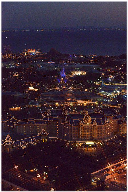 東京ディズニーランドホテルからリゾートを一望!
