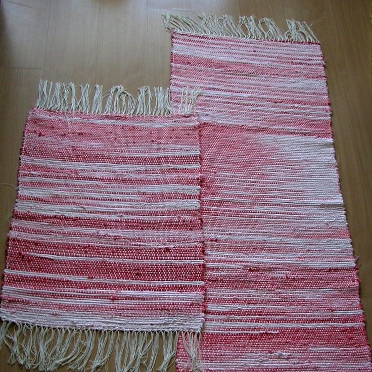 tkaný kobereček - hadrák - růžový