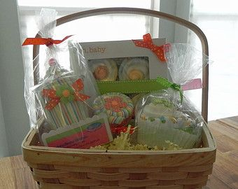 Washcloth Lollipop Pail Unique Baby Shower Gifts and by BabyBinkz