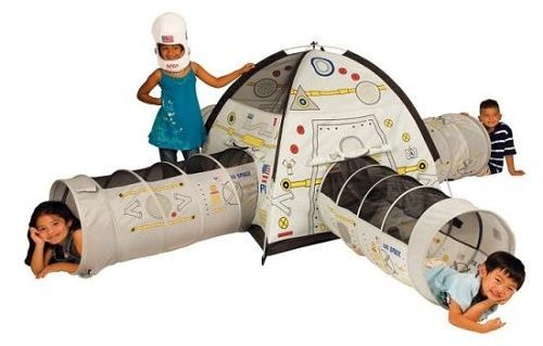 Boys Play Tent Space Station Playhut Preschool Playtent Tunnels W Carry Bag Hut #PacificPlaytent