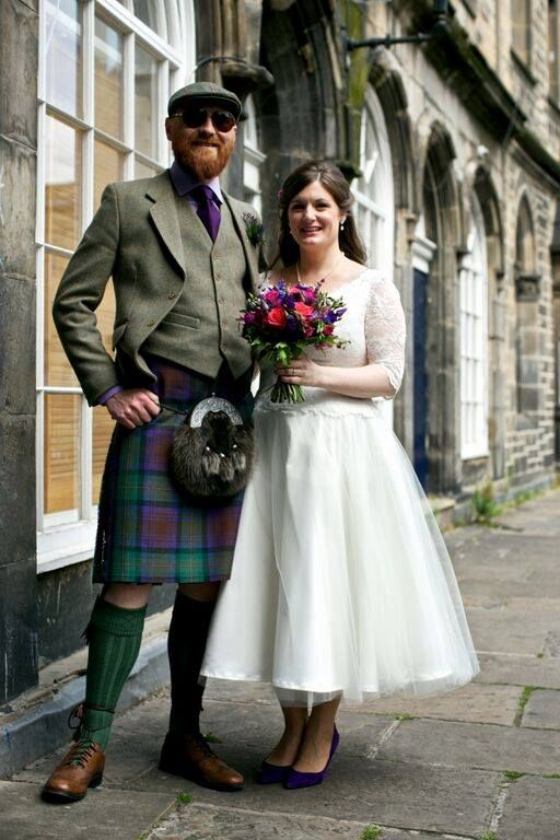 Thankyou to Teddy & Cara for sharing their pictures of their uniquely stylish day !  Tweed Kilt outfits by Gordon Nicolson Kiltmakers  www.nicolsonkiltmakers.com