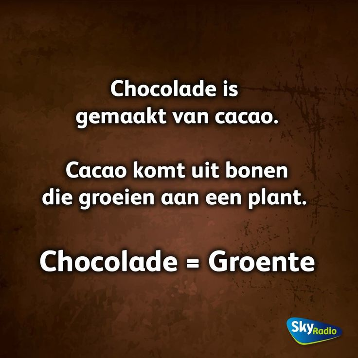 Ik hou van chocola