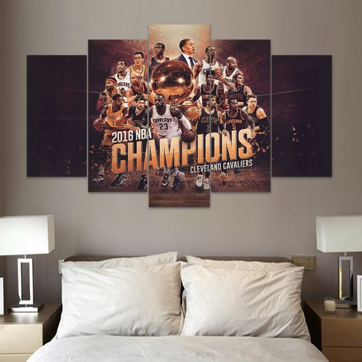 """2016 NBA Champions """"Cavaliers"""" - 5 Piece Canvas Painting"""