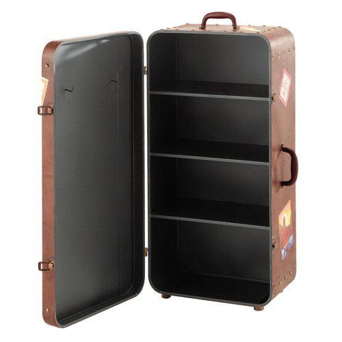 buffet valise en m tal marron l 49 cm d co maison pinterest buffet de f te. Black Bedroom Furniture Sets. Home Design Ideas