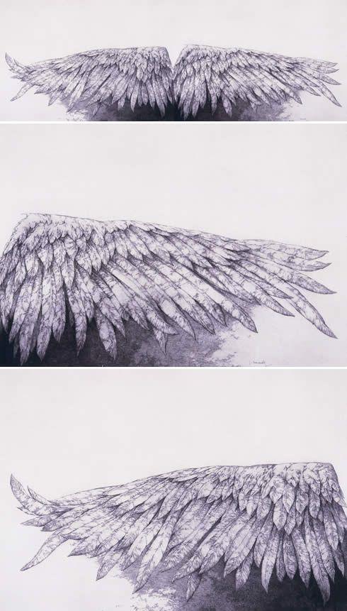 José Hernández Pintor Obra ANGEL CAÍDO I Y II (DIPTICO)