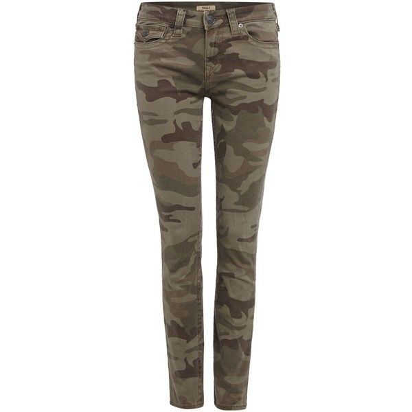 True Religion Halle skinny camo floral jeans ($245) ❤ liked on Polyvore featuring jeans, camo, women, flower print jeans, camouflage skinny jeans, true-religion skinny jeans, camo jeans and brown jeans