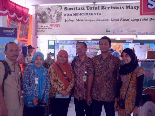 STBM dalam Kegiatan Pencanangan Bulan Penimbangan Balita di Subang, Jawa Barat - Agustus 2012