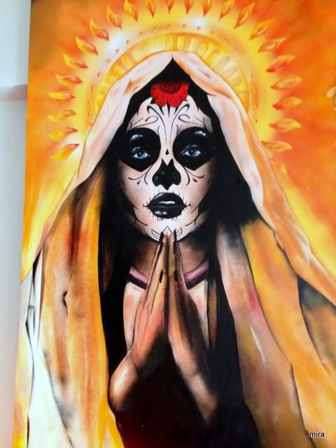 Day of the dead/ mural/ Spray paint, acrylic paint