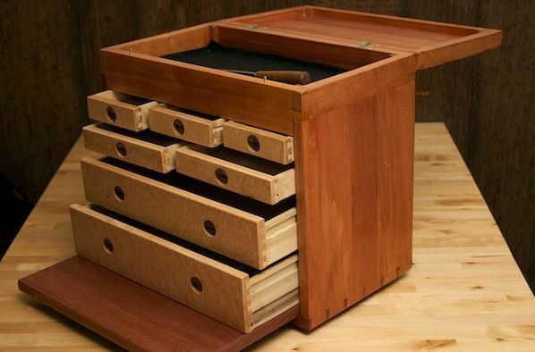 machinist tool box wooden