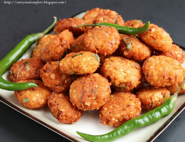 Curry and Comfort: Masoor Dhal Masala Vadai (Lentil Fritter) - Gluten Free, Vegan
