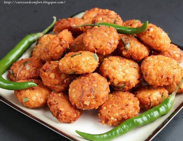 Curry and Comfort: Masoor Dhal Masala Vadai (Lentil Fritter) - Gluten Free, Vegan