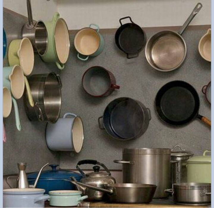 Kitchen Storage Ideas For Pots And Pans 16 best pot and pan displays images on pinterest | kitchen