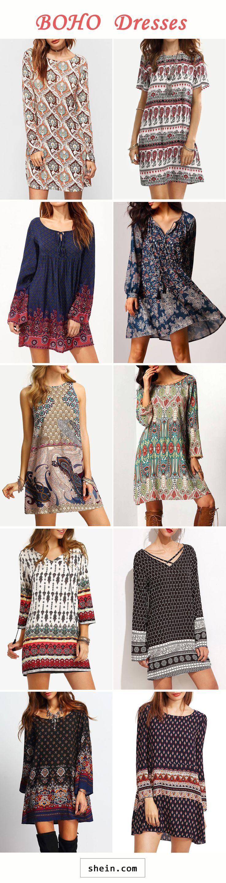 Boho dresses start at $10!