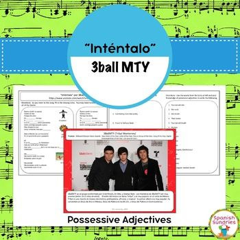 "These activities go along with the song ""Inténtalo"" by 3Ball MTY (pronounced Tribal Monterrey) which is readily available on YouTube and iTunes. In this activity, students listen to the song and complete the missing lyrics. Then, they are asked to locate certain lines of the song, copy them, and manipulate them."
