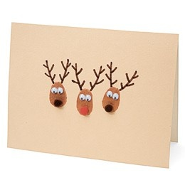 Great homemade Christmas card for kids to help with......