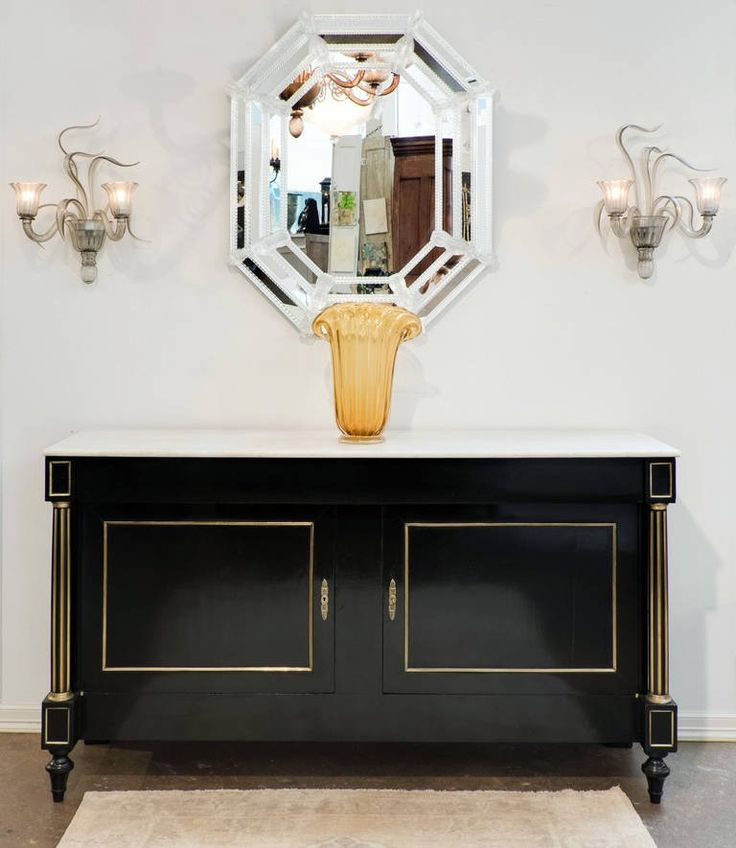 19th Century French Louis XVI Marble-Top Buffet at 1stdibs