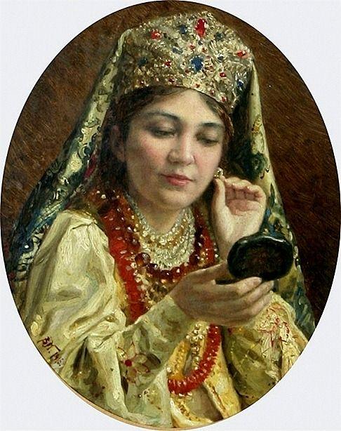И незамужние девушки, и замужние женщины украшали себя бусами, ожерельями, серьгами. Даже пуговицы принято было украшать особым образом: гравировкой, филигранью, тканью.