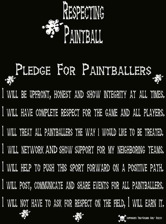 Ojalá todos los paintballers siguiéramos estos puntos!