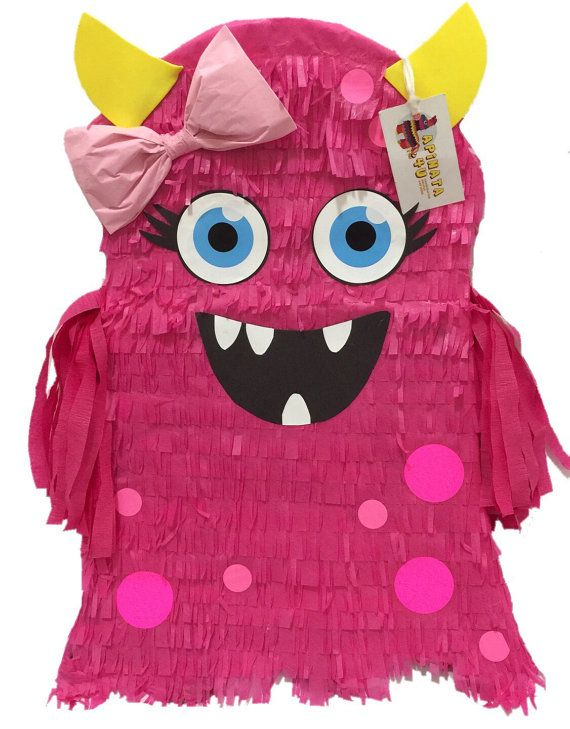 "Pink Monster Pinata 23"" Tall Halloween Party Favor"