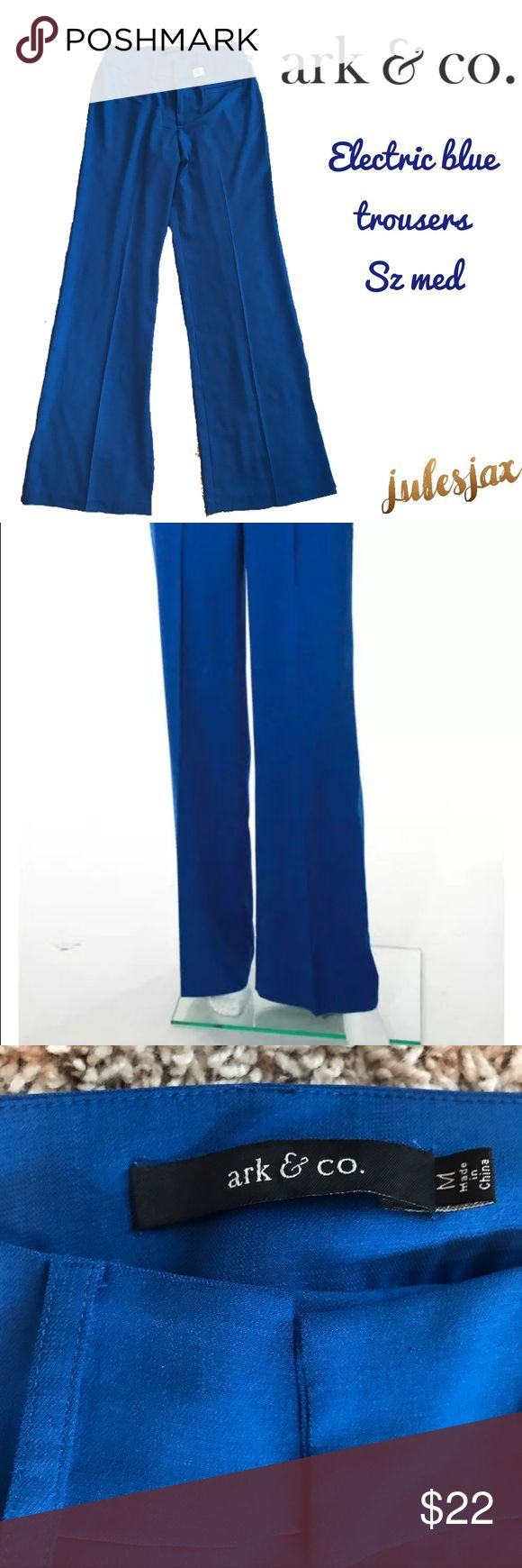 Ark & Co. electric blue soft flowy trousers sz Med Measurements will be posted shortly.  I wrote them down, but they're not with me atm. 😴 Ark & Co Pants Trousers
