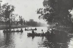 Rowing on Cooks River, Earlwood, ca 1890s. Earlwood NSW - Canterbury Commons