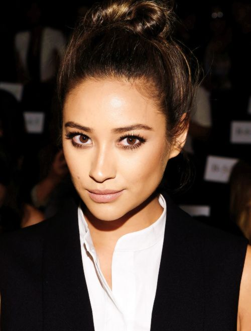 Shay Mitchell attends the BCBGMAXAZRIA fashion show during Mercedes-Benz Fashion Week Spring 2015 // September 4