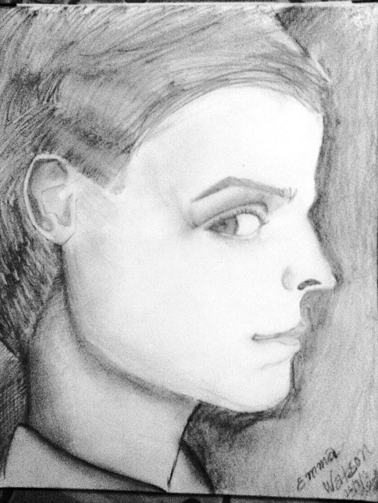 This is a sketch of emma watson i made when she had this funny boy's haircut...