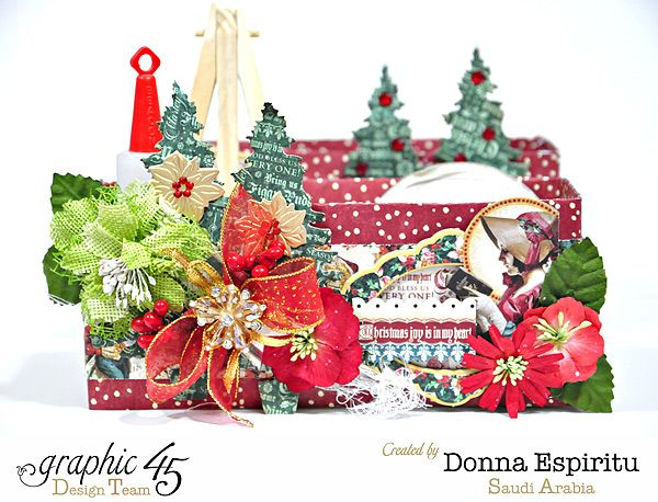 Get organized for Christmas with this beautiful desk organizer from Donna using A Christmas Carol #graphic45