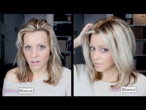 DIY: Voluminous hair blowout tutorial video. - YouTube