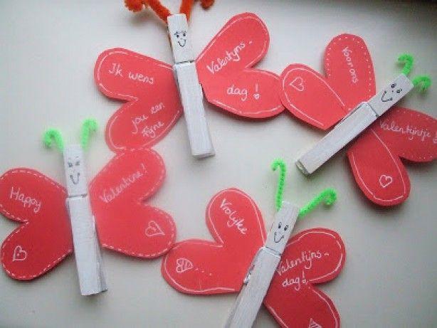 Knutselen - Liefde --> vlindertjes