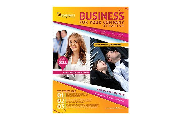 Business Magazine Advertising Flyer by Star Graphic Design on @creativemarket