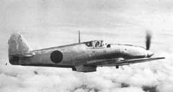 "Kawasaki Heavy Industries Ki-61 Hien (Flying Swallow).  The Ki-61 was a light fighter built around a Kawasaki Ha-40 V12 engine, which was actually a license-built version of a German Daimler-Benz DB 601A engine.  Codenamed ""Tony"" by the Allies, the Ki-61s were used extensively by Japan from the spring of 1943 until the last days of the war, when many were used as Kamikaze planes."
