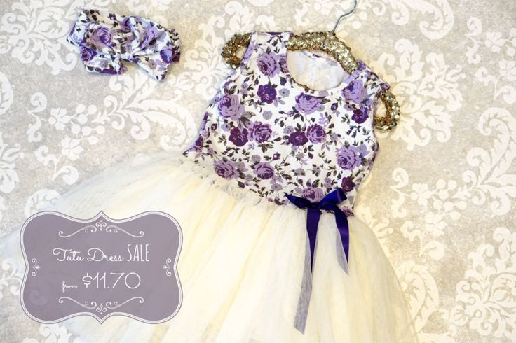 Lavender Whispers Tutu Dress: an elegant dress that can take your little girl from a special occasion right to the playground!  On sale this week for 74% off!