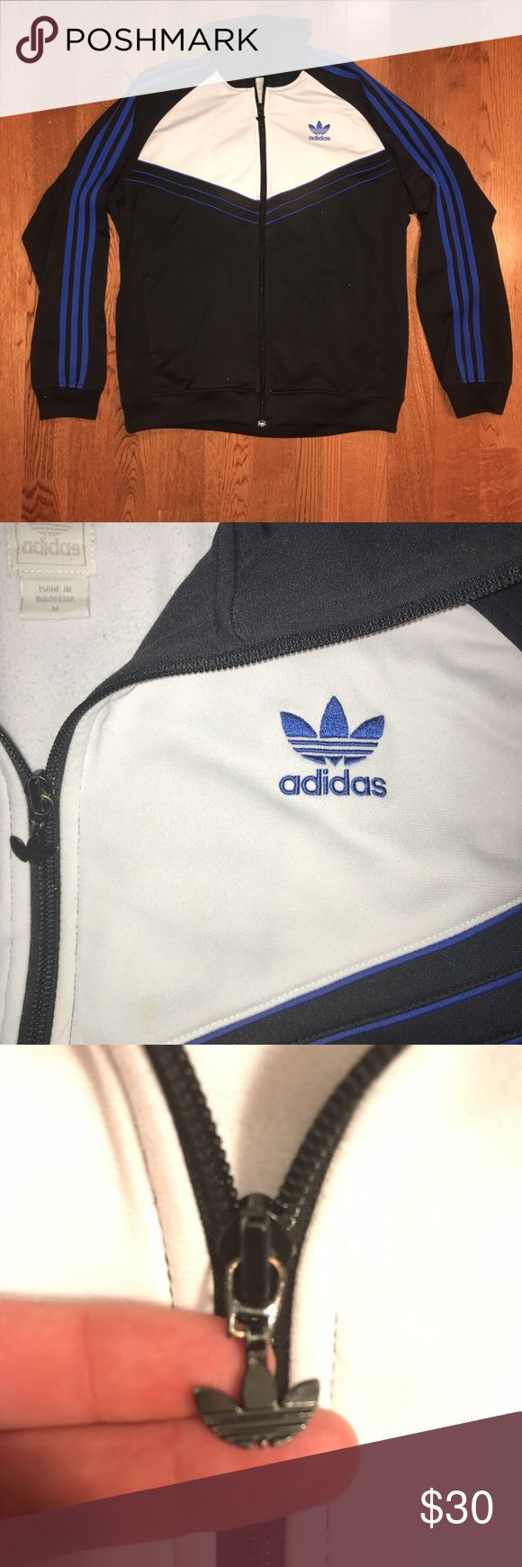 Vintage Adidas originals track jacket 🔥🔥super dope vintage adidas originals track jacket with logo zipper and 2 hand pockets🔥🔥 Tagged medium, true to size Excellent condition-9.5/10 No flaws or stains adidas Jackets & Coats Lightweight & Shirt Jackets