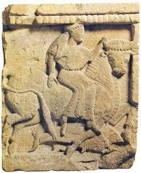Europa e il Toro/Zeus Metopa dal Tempio Y dell'Acropoli di Selinunte, 580-60 a.C