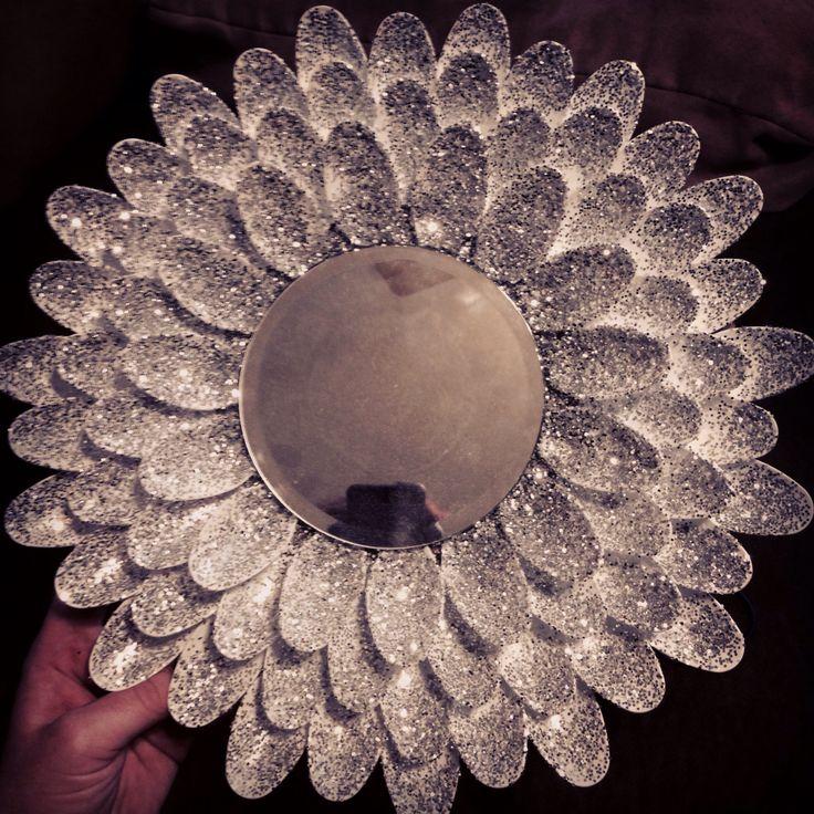 My very own spoon mirror!! Love it!! Pinterest win!!!