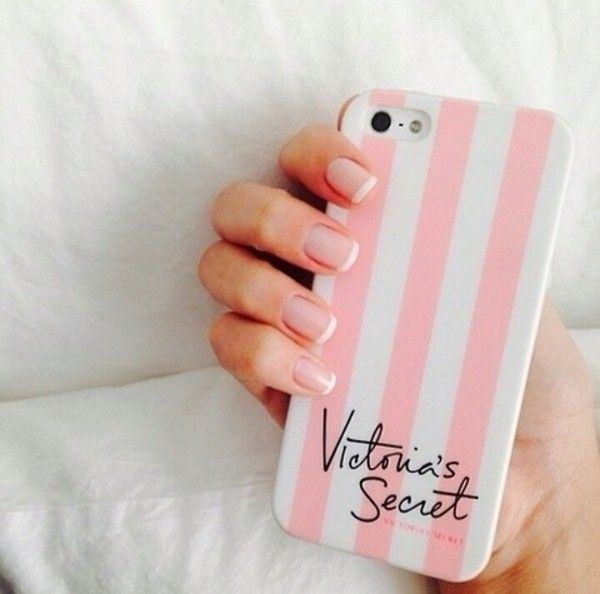 Pink victoria's secret Iphone 6 5 4 Case 1 via Fashionmovements. Click on the image to see more!